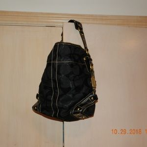 Coach Leather and Fabric Black Purse